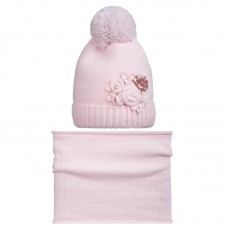 18 Z 82 k Winter hat with snood for girls