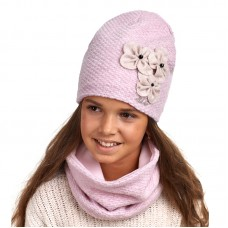 18 Z 23 k Winter hat with snood for girls