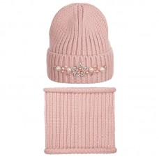 19 Z P05 k Winter hat with snood for women