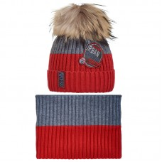 19 Z 127 k Winter hat with snood for boys
