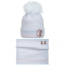 19 Z 29 k Winter hat with snood for girls