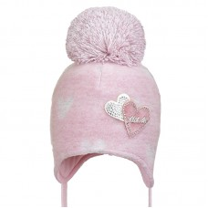 19 Z 303 Winter hat with earflaps for girls