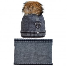 19 Z 50 k Winter hat with snood for boys