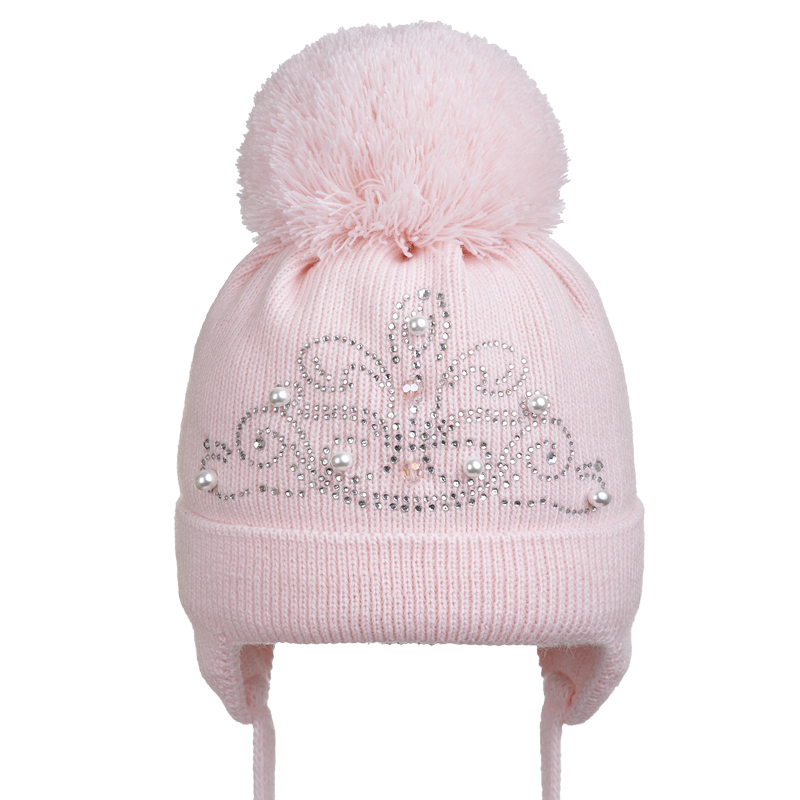 19 Z H01 Winter hat with earflaps for girls