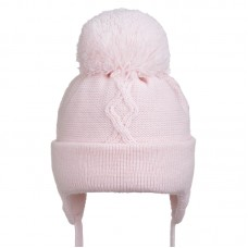19 Z H02 Winter hat with earflaps for girls