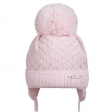 19 Z H07 Winter hat with earflaps for girls