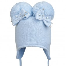 19 Z H10 Winter hat with earflaps for girls