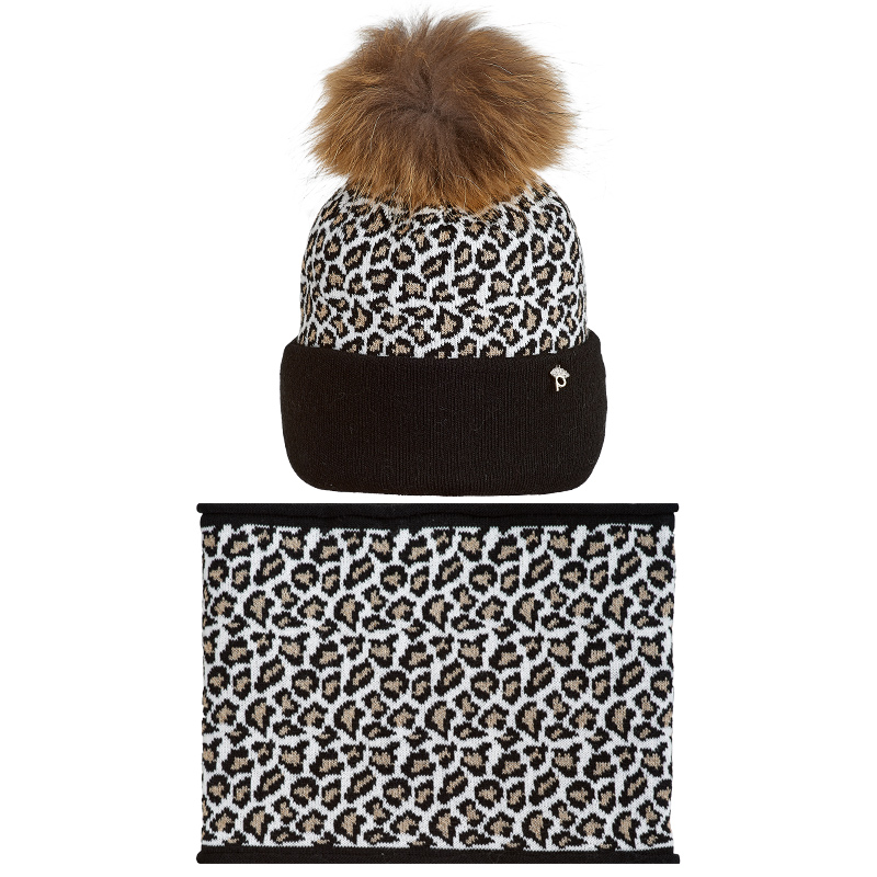 19 Z P08 k Winter hat with snood for girls