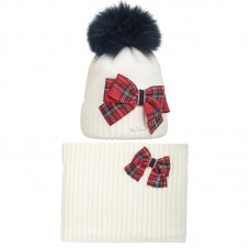 19 Z 04 k Winter hat with snood for girls