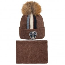 19 Z 115 k Winter hat with snood for boys