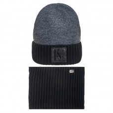 19 Z 132 k Winter hat with snood for boys