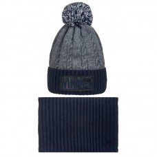 19 Z 133 k Winter hat with snood for boys