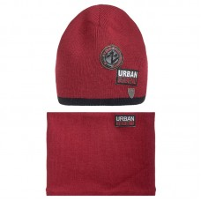 19 Z 135 k Winter hat with snood for boys