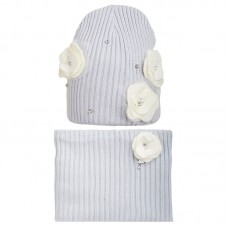 19 Z 16 k Winter hat with snood for women