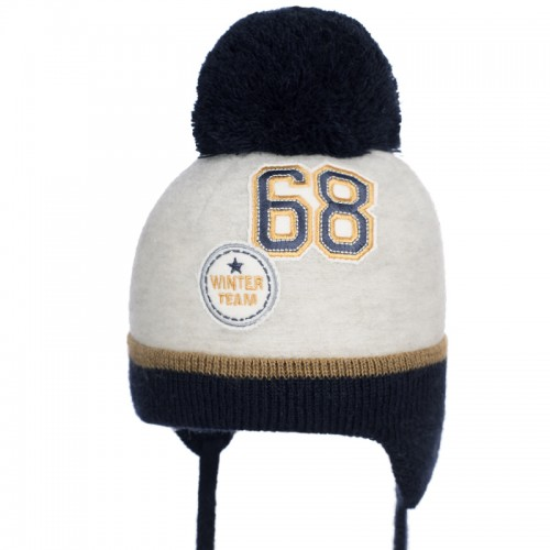 B 19 Z 350 Winter hat with earflaps for boys