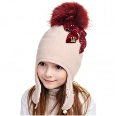 MARIYA Winter hat with earflaps for girls