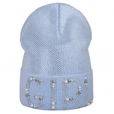 20 V 15 k Hat with a snood for girls