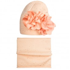 20 V 09 k Hat with a snood for girls