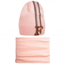 20 V 13 k Hat with a snood for girls