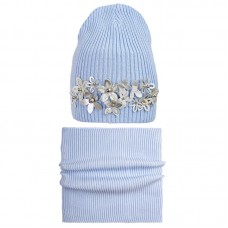 20 V 16 k Hat with a snood for girls