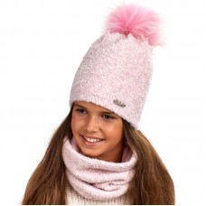 18 Z 142 k Winter hat with snood for girls