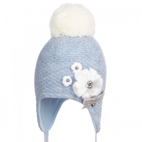 18 Z 311/1 Winter hat with earflaps for girls
