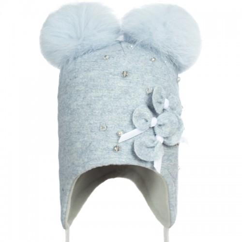 18 Z 86 Winter hat with earflaps for girls