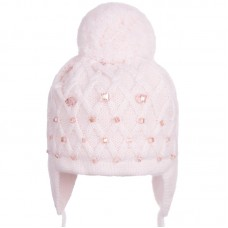 16 Z 002 Winter hat with earflaps for girls