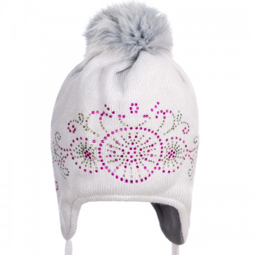 16 Z 22 Winter hat with earflaps for girls