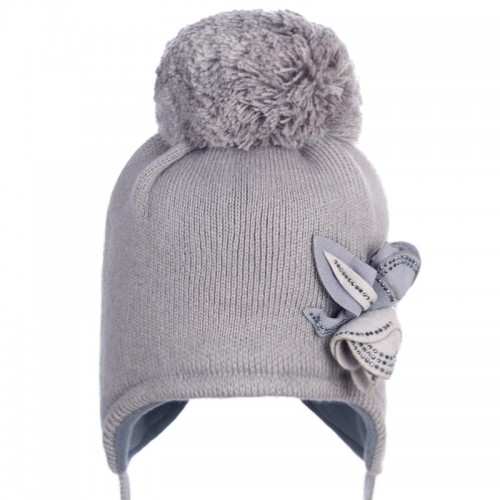 16 Z 54 Winter hat with earflaps for girls