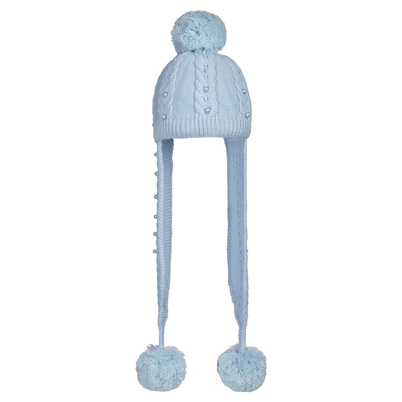 16 Z 66 Winter hat with earflaps for girls
