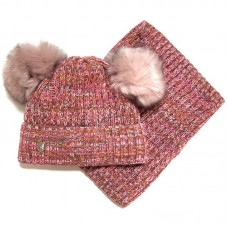 Agbo 1606 Sydney Winter hat with snood for girls