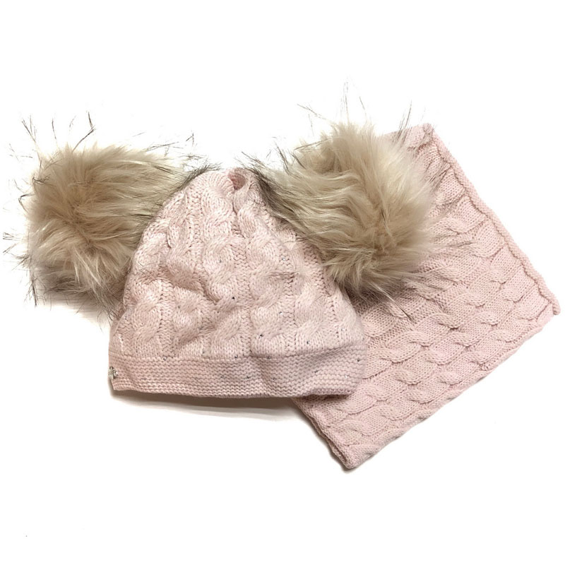 Agbo 1643 Megi Winter hat with snood for girls