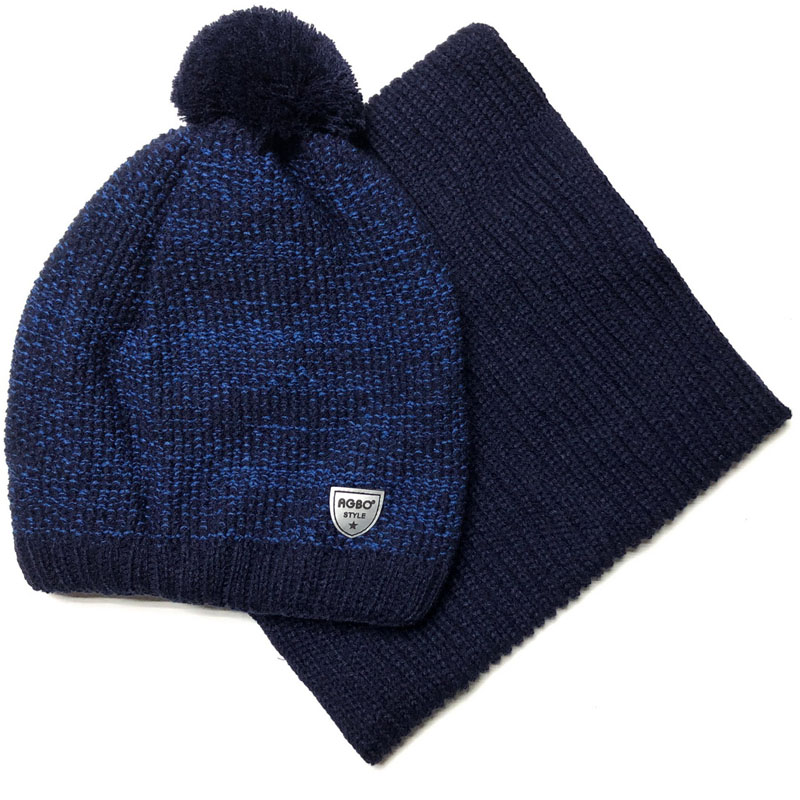 Agbo 2296 Sebek Winter hat with snood for boys