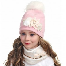 ALLA Winter hat with snood for girls