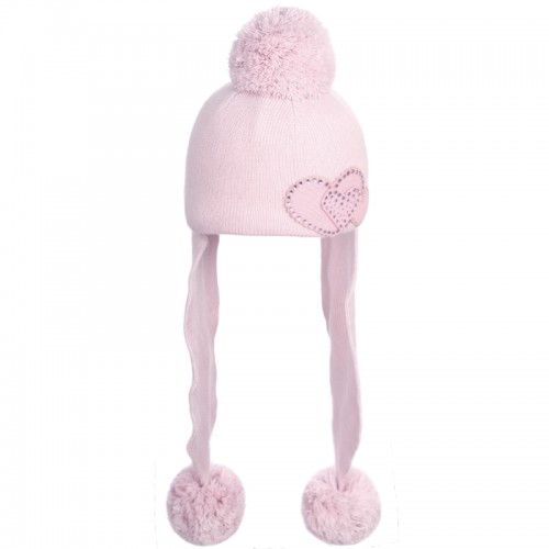 D 14-07 SOFFIO Winter hat with earflaps for girls
