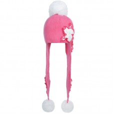 D 14-08 SOFFIO Winter hat with earflaps for girls