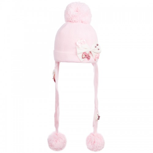 D 14-11 SOFFIO Winter hat with earflaps for girls