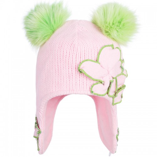D 14-19A KRISTINA Winter hat with earflaps for girls