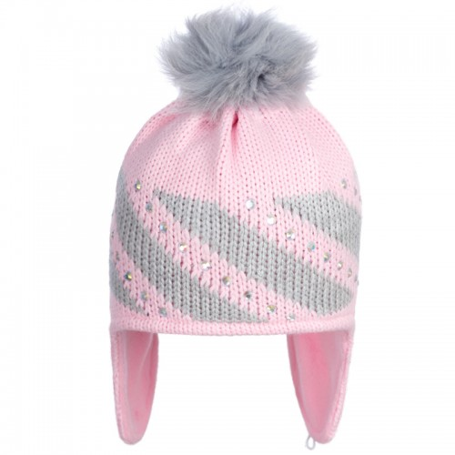 D 14-29 KRISTINA Winter hat with earflaps for girls