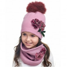 EKATERINA Winter hat with snood for girls