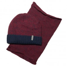 Grans A1007-P Winter hat with snood for boys