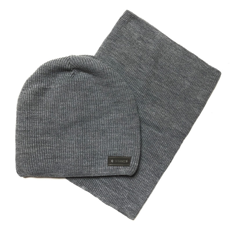 Grans A1008-F Winter hat with snood for boys