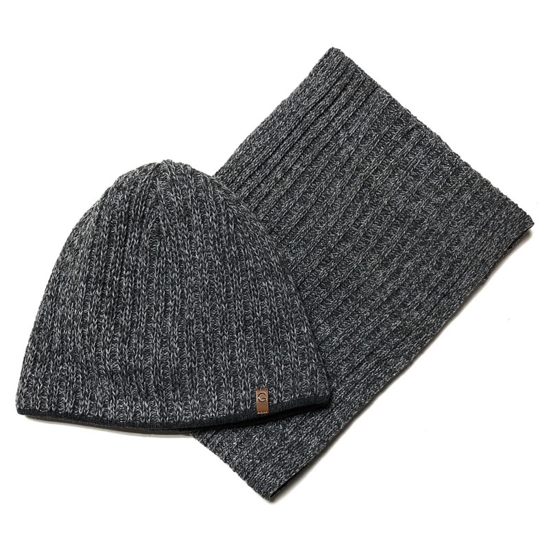 Grans M163-P Winter hat with snood for boys