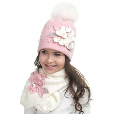 JURAVA Winter hat with snood for girls