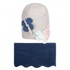 CELINA 57 Winter hat with snood for girls