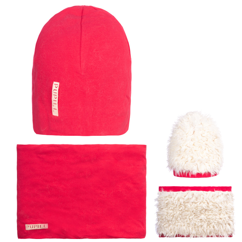 GINA 100 Winter hat double sided with snood for girls