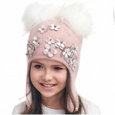 TATYANA Winter hat with earflaps for girls